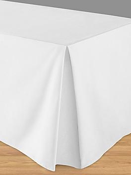 """Fitted Table Cover - 30 x 96 x 29"""", White S-21992W"""