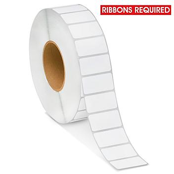 """Industrial Weatherproof Thermal Transfer Labels - Polypropylene, White, 2 x 1"""", Ribbons Required S-22059"""