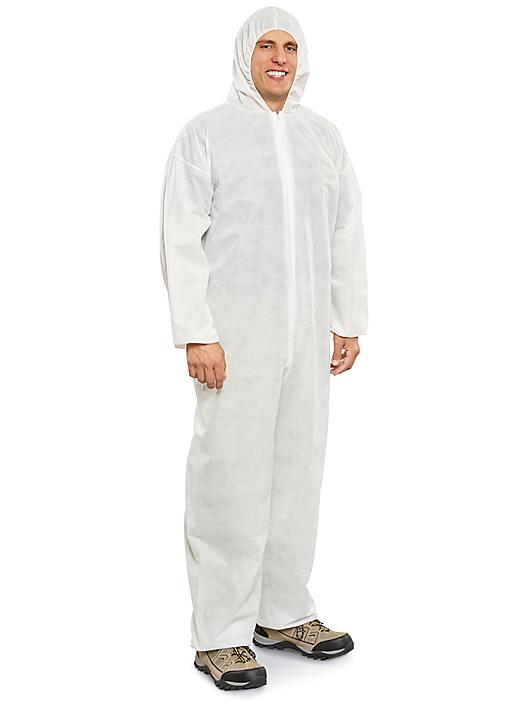 Uline Industrial Coverall with Hood - Large S-22212-L
