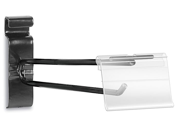 """Scanner Hooks for Gridwall - 8"""", Black S-22263BL"""