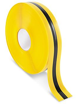 """Mighty Line® Deluxe Center Stripe Safety Tape - 2"""" x 100', Yellow/Black S-22293Y/B"""