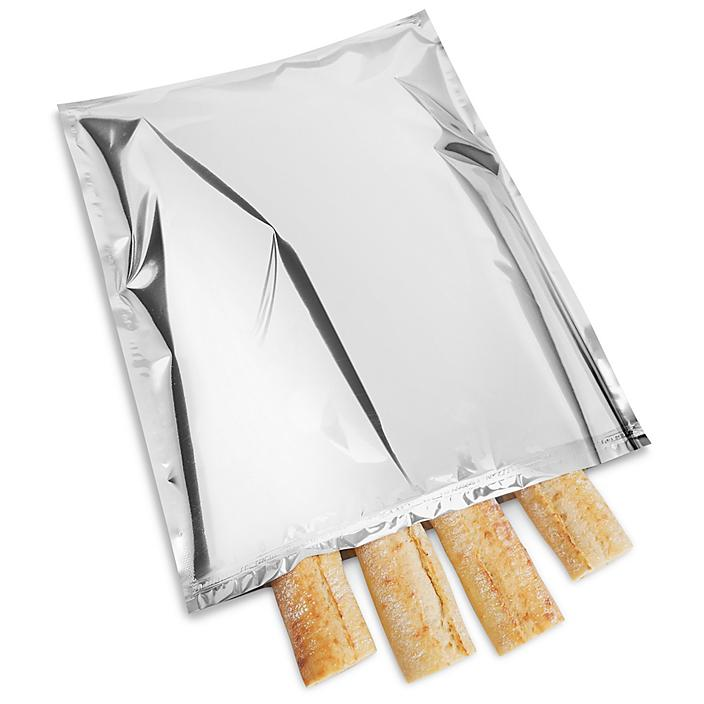 """Metalized Food Bags - Reclosable, 18 x 24"""" S-22298"""