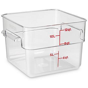Cambro® Square Food Storage Containers - 12 Quart S-22308
