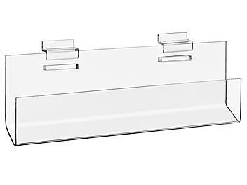 "Slatwall Acrylic J-Shelves - 12 x 2 x 3 1/2"" S-22312"