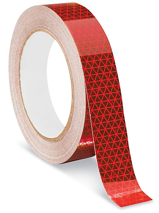 """Outdoor Reflective Tape - 1"""" x 50', Red S-22329R"""