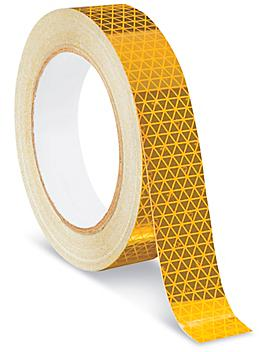 """Outdoor Reflective Tape - 1"""" x 50', Yellow S-22329Y"""