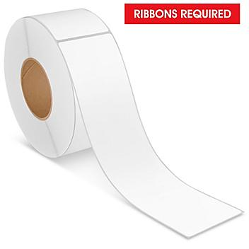 """Industrial Thermal Transfer Labels - 3 x 12"""", Ribbons Required S-22342"""