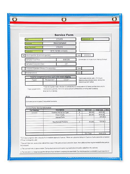 "Reclosable Job Ticket Holders - 11 x 14"", Blue S-22349BLU"