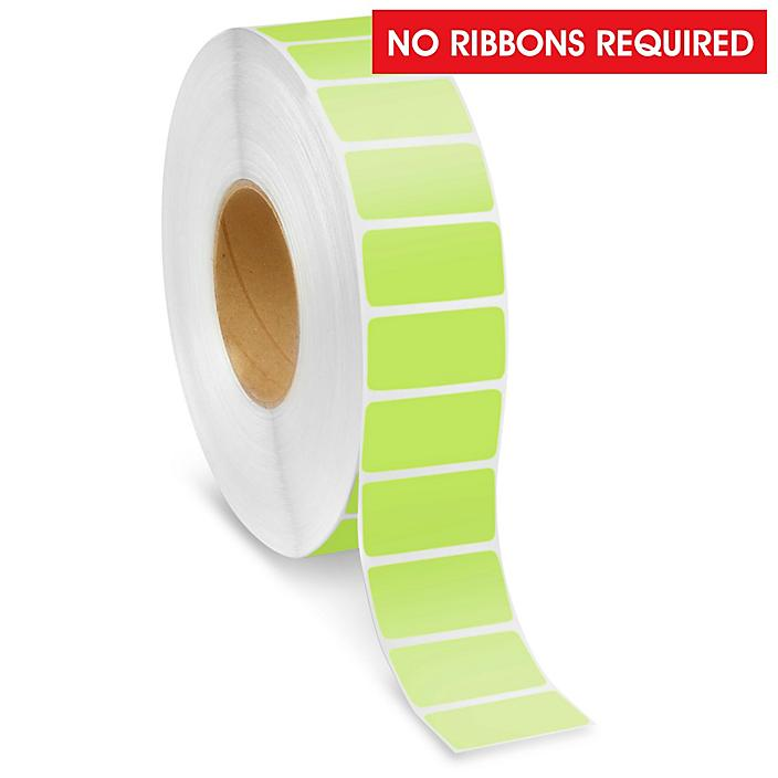 """Industrial Direct Thermal Labels - Green, 2 x 1"""" S-22387G"""