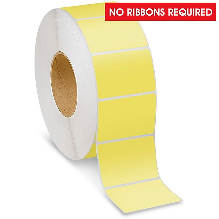 """Industrial Direct Thermal Labels - Yellow, 3 x 2"""" S-22388Y"""