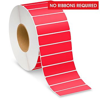 """Industrial Direct Thermal Labels - Red, 4 x 1"""" S-22389R"""