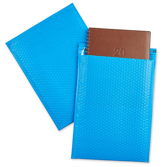 """Uline Economy Colored Poly Bubble Mailers #5 - 10 1/2 x 16"""", Blue S-22404BLU"""