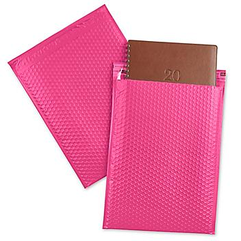 """Uline Economy Colored Poly Bubble Mailers #5 - 10 1/2 x 16"""", Pink S-22404P"""