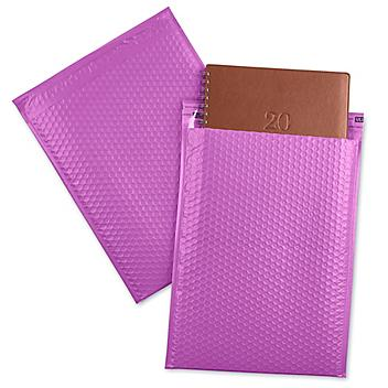 """Uline Economy Colored Poly Bubble Mailers #5 - 10 1/2 x 16"""", Purple S-22404PUR"""