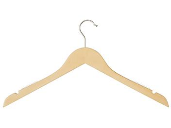 Wood Hangers - Shirt with Notches, Natural S-22412NAT