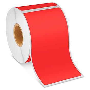"Uline Mini Printer Labels - Red Paper, 2 1/8 x 4"" S-22414R"