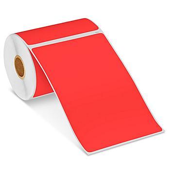 "Uline Mini Printer Labels - Red Paper, 4 x 6"" S-22416R"