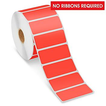 """Desktop Direct Thermal Labels - Red, 2 1/2 x 1"""" S-22420R"""