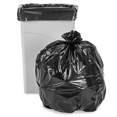 Uline Industrial Trash Liners - 23 Gallon, 1.5 Mil, Black