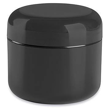 Double Wall Dome Jars Bulk Pack - 2 oz, Black S-22464B-BL
