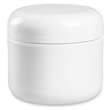 Double Wall Dome Jars Bulk Pack - 2 oz, White S-22464B-W