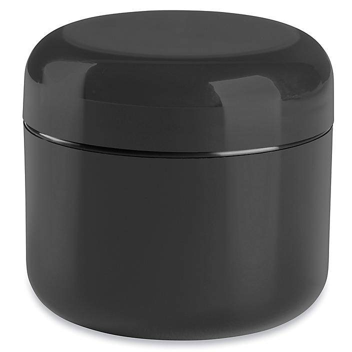 Double Wall Dome Jars - 2 oz, Black S-22464BL
