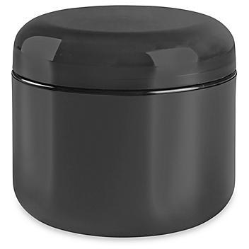 Double Wall Dome Jars - 4 oz, Black S-22465BL