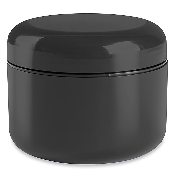 Double Wall Dome Jars Bulk Pack - 8 oz, Black S-22466B-BL