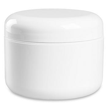 Double Wall Dome Jars Bulk Pack - 8 oz, White S-22466B-W