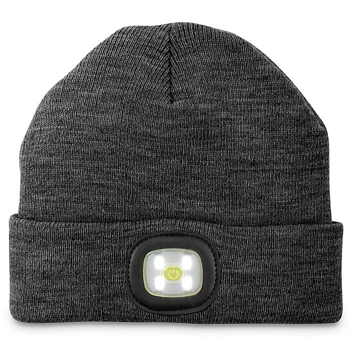 LED Knit Hat - Black S-22490BL