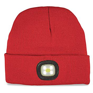 LED Knit Hat - Red S-22490R