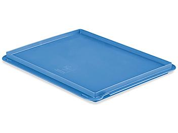 """Straight Wall Container Lid - 15 x 12"""", Blue S-22491BLU"""