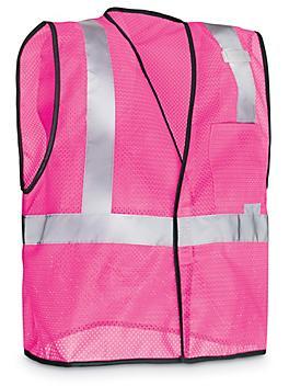 Pink Hi-Vis Safety Vest - L/XL S-22519-L
