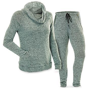 Women's Loungewear Set with Cowl Neck - Mint, XL S-22556MNT-X