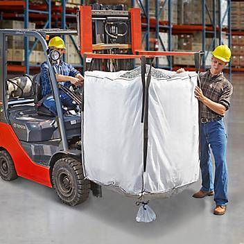 "Bulk Bags Skid Lot - Duffle Top, Spout Bottom, 35 x 35 x 45"" S-22715S"