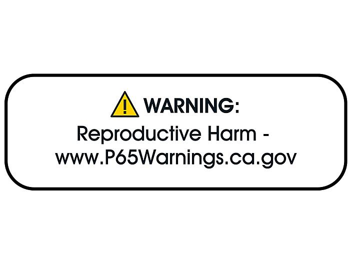 "California Prop 65 Labels - ""Warning: Reproductive Harm"", 1 1/2 x 1/2"" S-22725"