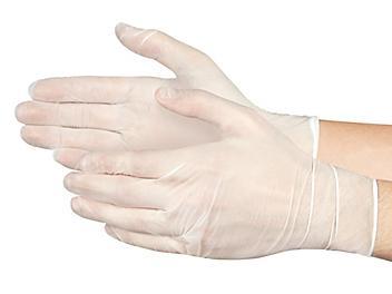 Uline Food Service Nitrile Gloves - Clear, Large S-22776C-L
