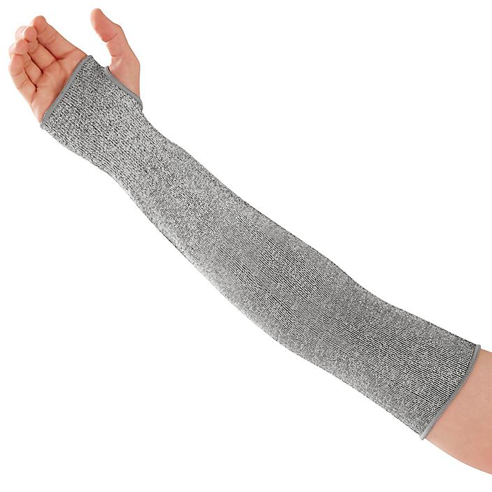 """Uline HPPE Cut Resistant A2 Sleeve - 18"""", Gray S-22781GR"""