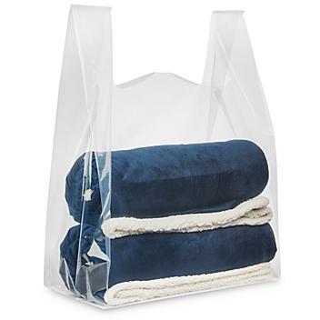 """Super Tough T-Shirt Bags - Plain, 20 x 10 x 30"""" S-22796"""