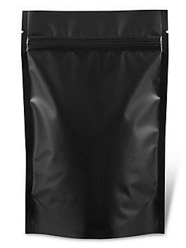 "Matte Stand-Up Barrier Pouches - 5 x 8 x 2 1/2"", Black S-22821BL"