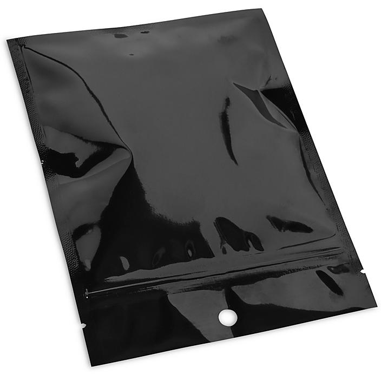 "Flat Barrier Pouches - 5 x 7"", Black S-22839BL"