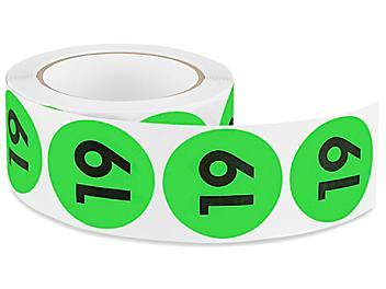"2"" Circle Labels - ""19"" S-22884"