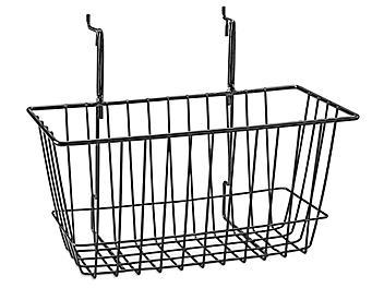 "Wire Baskets - 12 x 6 x 6"", Black S-22887BL"
