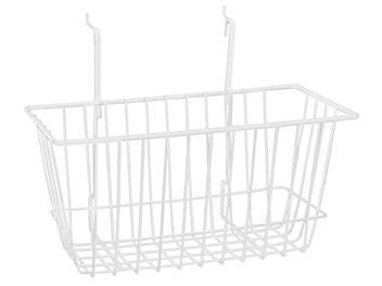 """Wire Baskets - 12 x 6 x 6"""", White S-22887W"""