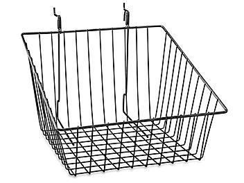 "Wire Baskets - 12 x 12 x 8"", Slanted, Black S-22888BL"