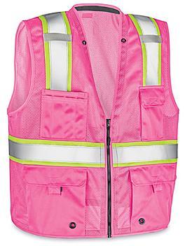 Colored Hi-Vis Safety Vest - Pink, S/M S-22908P-S