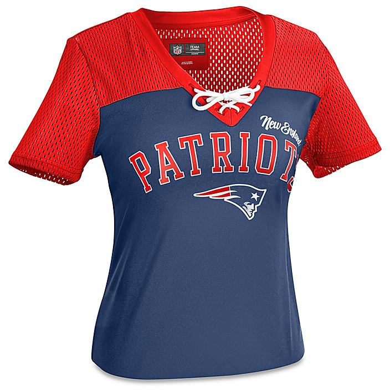 NFL Women's T-Shirt - New England Patriots, Large S-22915NEP-L