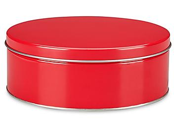 """Decorative Tins - 10 x 3 1/2"""", Red S-22941RED"""