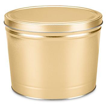 "Decorative Tins - 10 1/4 x 7 1/2"", Gold S-22942GOLD"