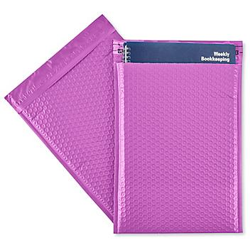 """Uline Economy Colored Poly Bubble Mailers #4 - 9 1/2 x 14 1/2"""", Purple S-22944PUR"""